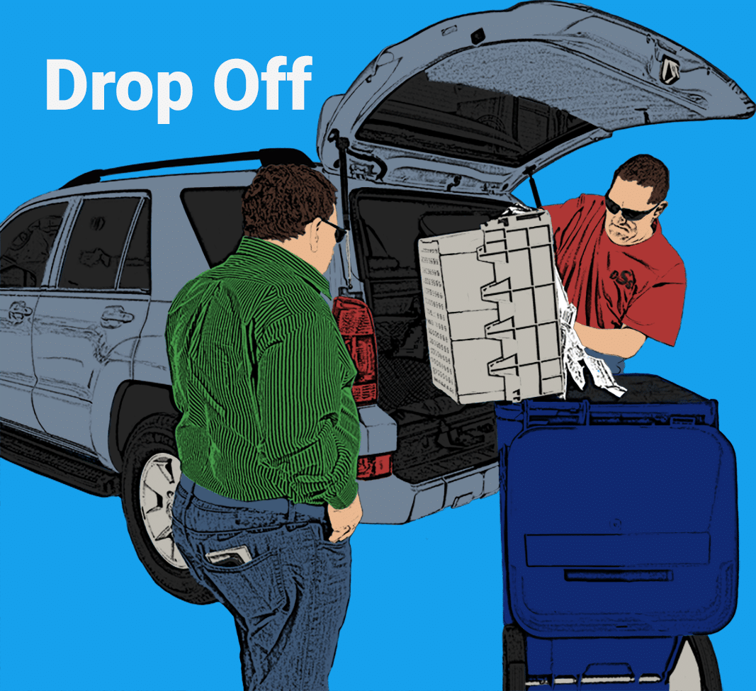 Graphic of Drop Off Shredding