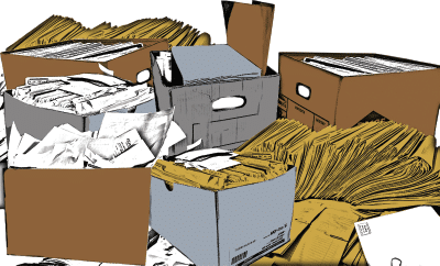 Graphic of Messy Documents