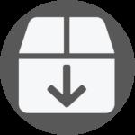 Box Icon with Down Arrow