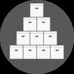 Stack of Storage Boxes Icon