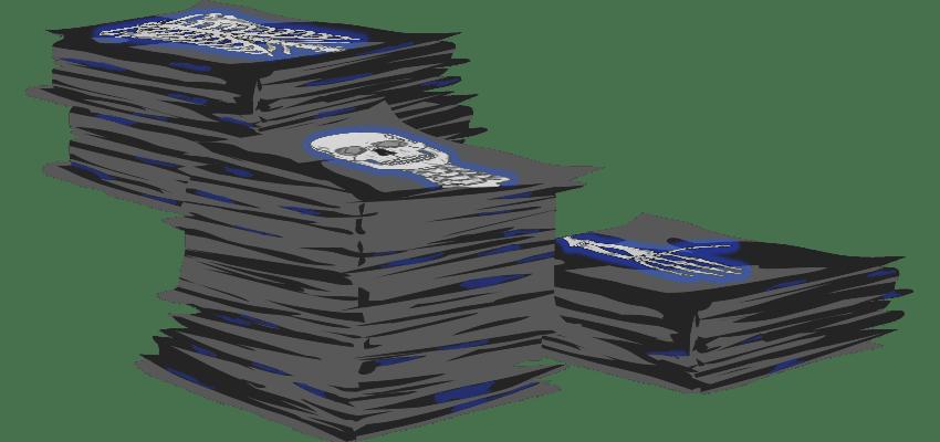 Graphic Three Piles of X Rays
