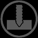 Grey Screw Icon