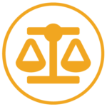 Yellow Legal Scales Icon