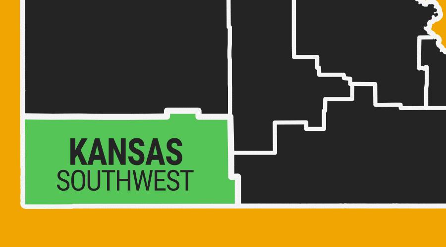 Southwest Kansas Colorful Graphic Map