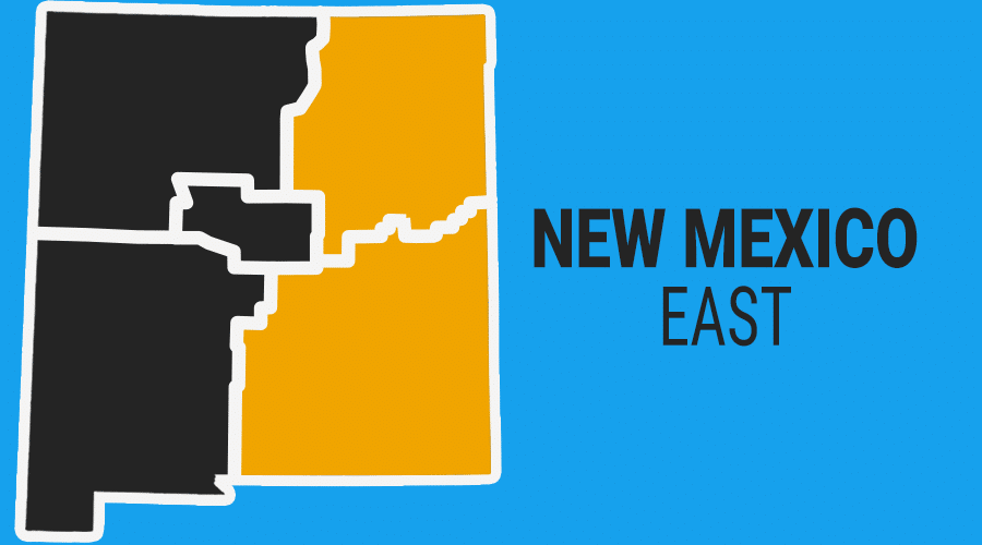 Eastern New Mexico Colorful Graphic Map