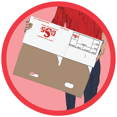 DSS Storage Box Being Refolded