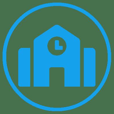 education icon circle blue