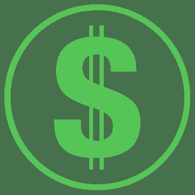 financial icon circle green
