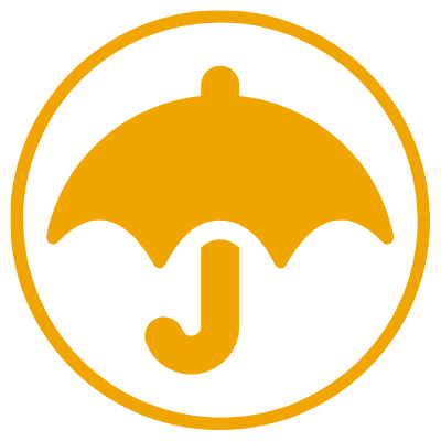 insurance icon circle orange