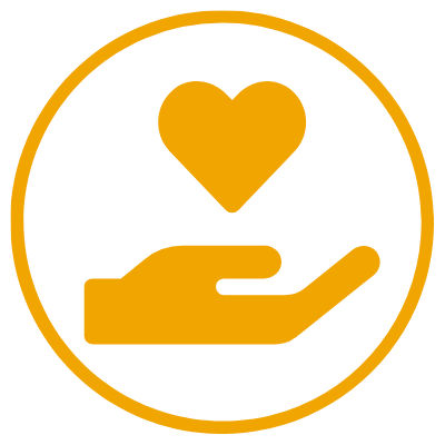 nonprofit icon circle orange