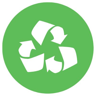 recycle icon circle green