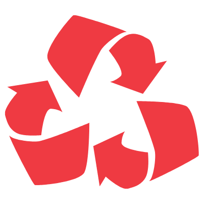 recycle icon red